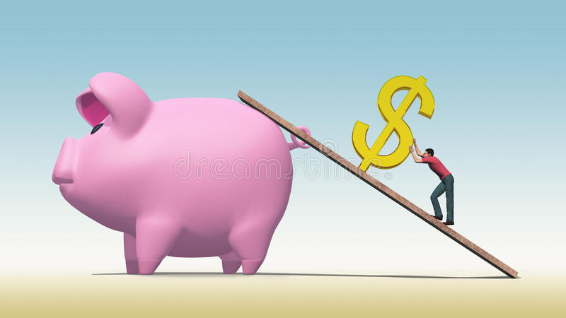 Download Hard To Save A Dollar stock illustration. Illustration of difficult - 27858157