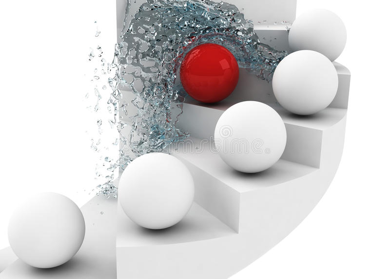 Download Hard Way To Success Leadership Concept Stock Illustration - Illustration: 13964526