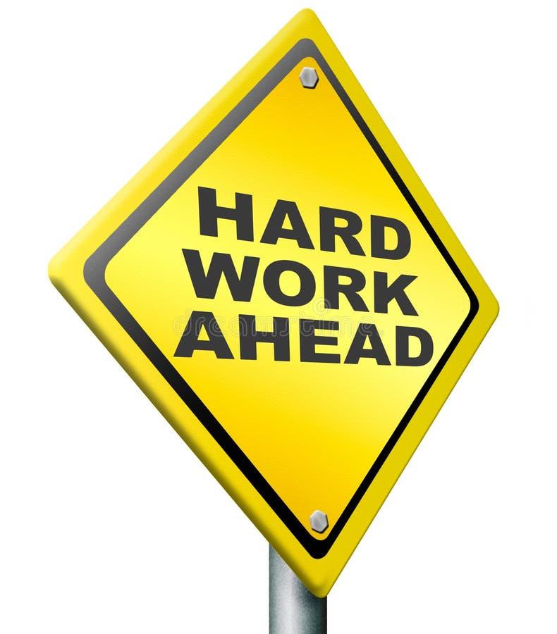 Hard work ahead vector illustration