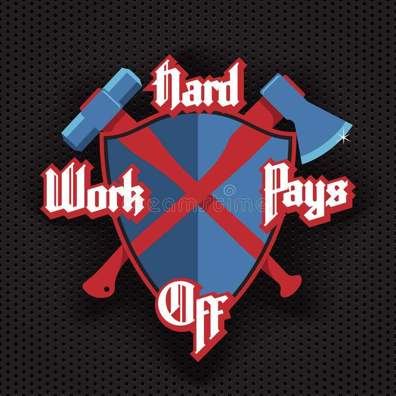 Hard work pays off vector illustration