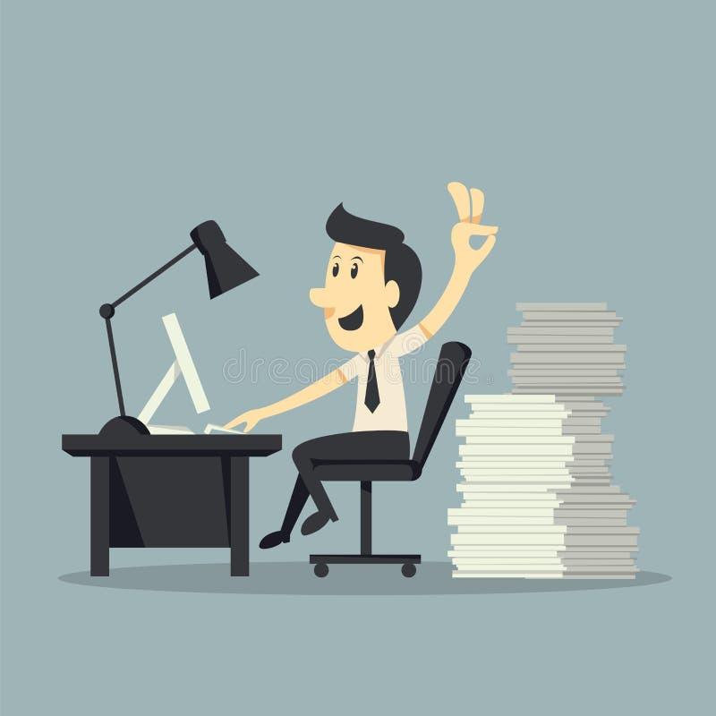 Hard Working vector illustration
