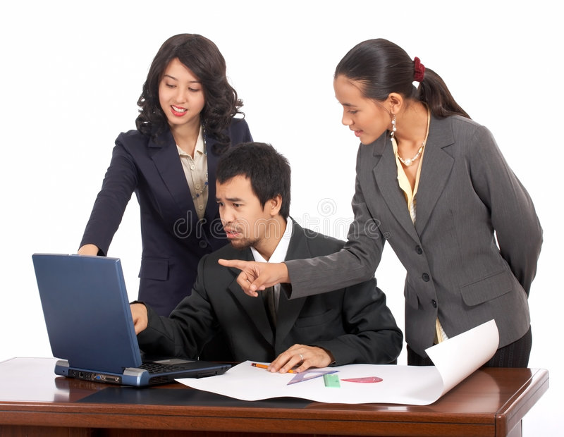 Hard working business team stock photography