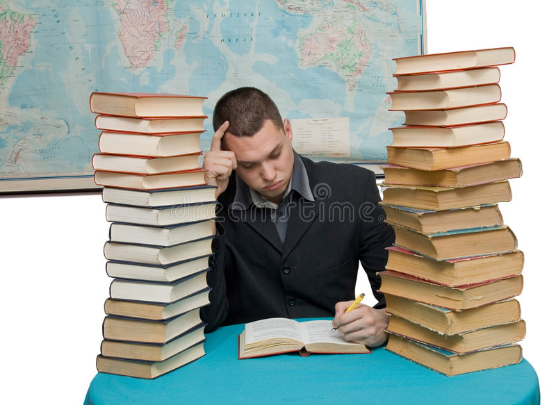 Download Hard working man stock photo. Image of bored, book, business - 4072478