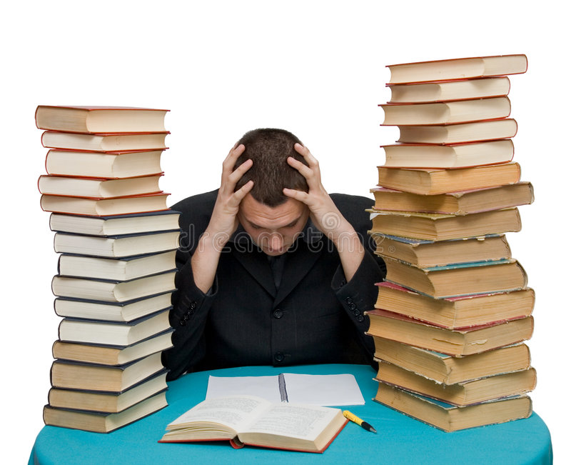 Download Hard working man stock image. Image of library, manager - 4072579