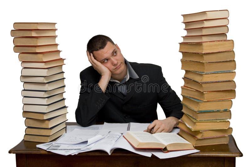 Hard working man. Studio isolated royalty free stock photos