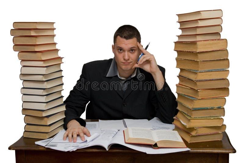 Hard working man. Studio isolated royalty free stock photo