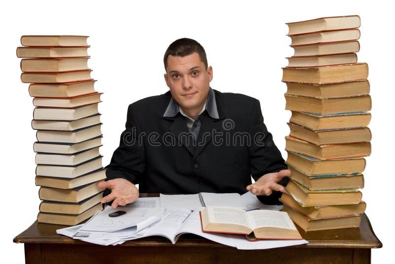 Hard working man. Studio isolated stock image
