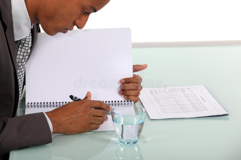 A hard-working man stock images