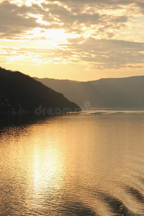 Hardanger fjord arkivfoton