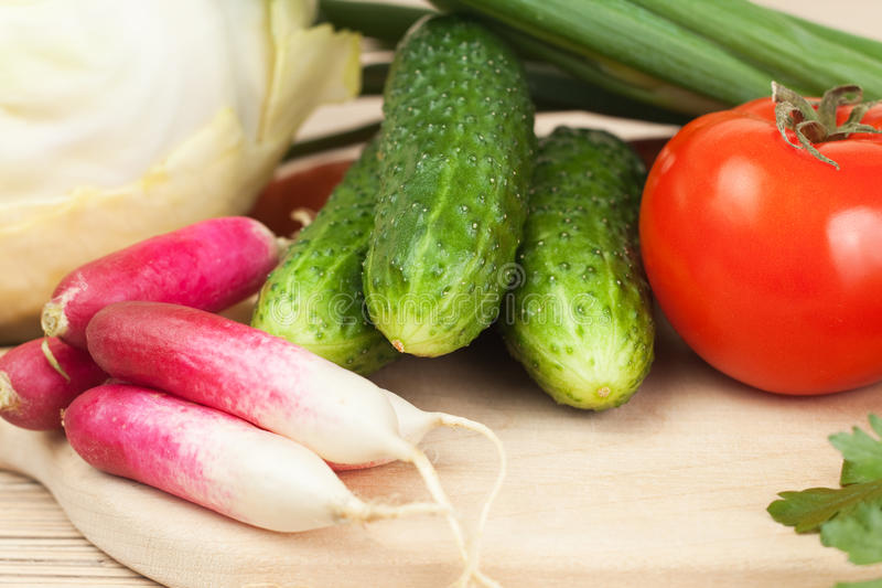 hardboard świezi warzywa zdjęcie stock