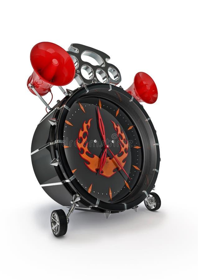 Download Hardcore alarm clock stock illustration. Image of flames - 22906167