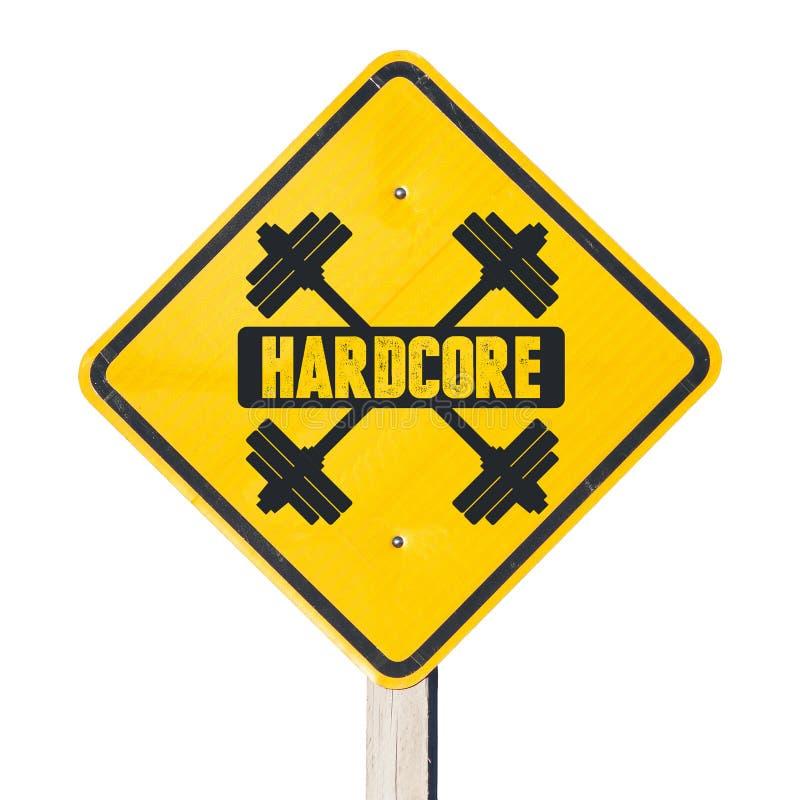 Hardcore sign stock photography