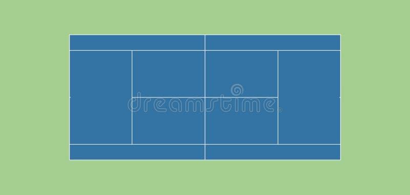 HARDCOURT réglementaire de court de tennis photographie stock libre de droits