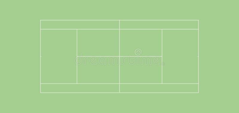 HARDCOURT regulamentar do campo de tênis imagens de stock