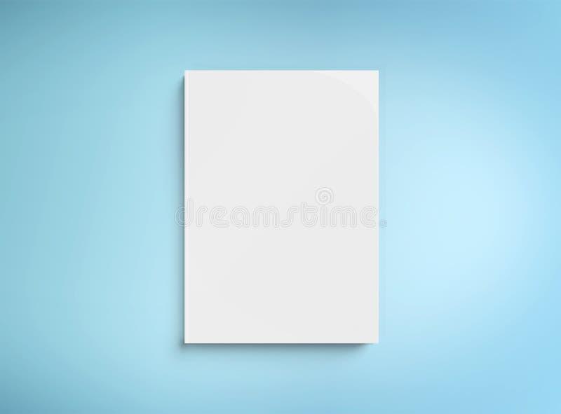 Κενό πρότυπο βιβλίων hardcover στην μπλε τρισδιάστατη απόδοση ελεύθερη απεικόνιση δικαιώματος