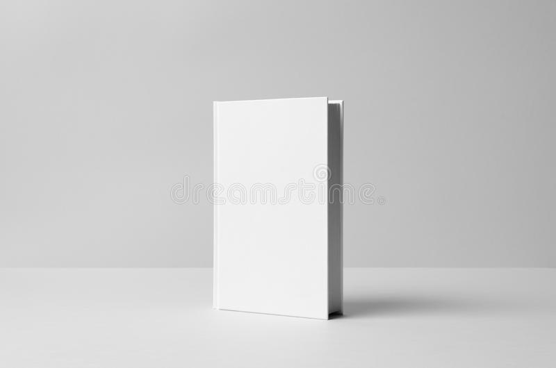 Hardcover Canvas Book Mock-Up - Front. Wall Background royalty free stock image