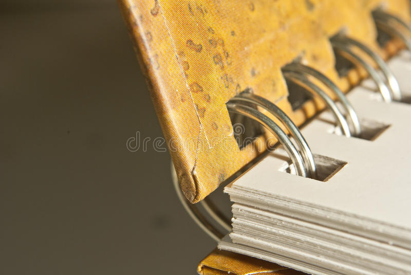 Hardcover wire-o closeup royalty free stock photos
