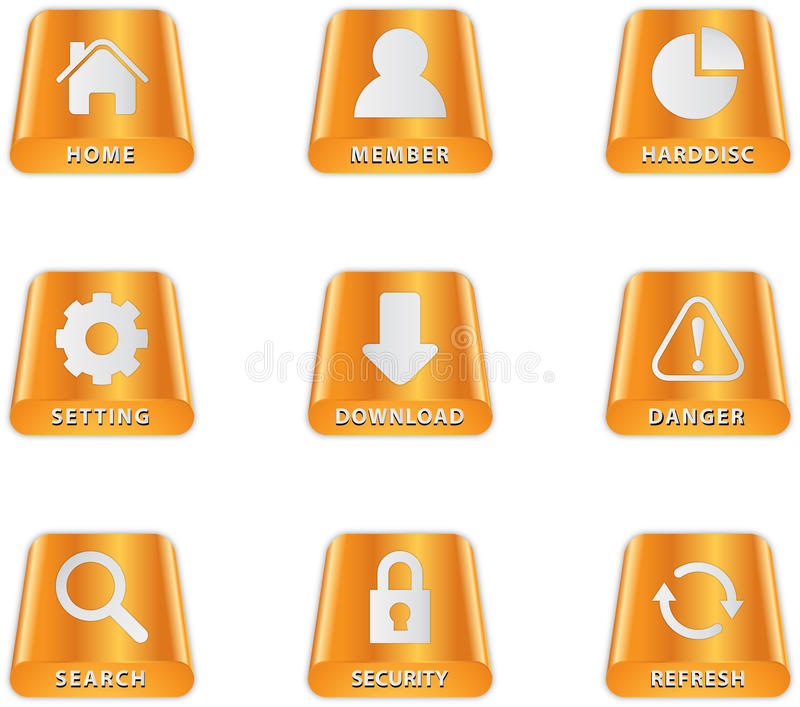 Download Harddisc Icons stock vector. Illustration of button, application - 21348671