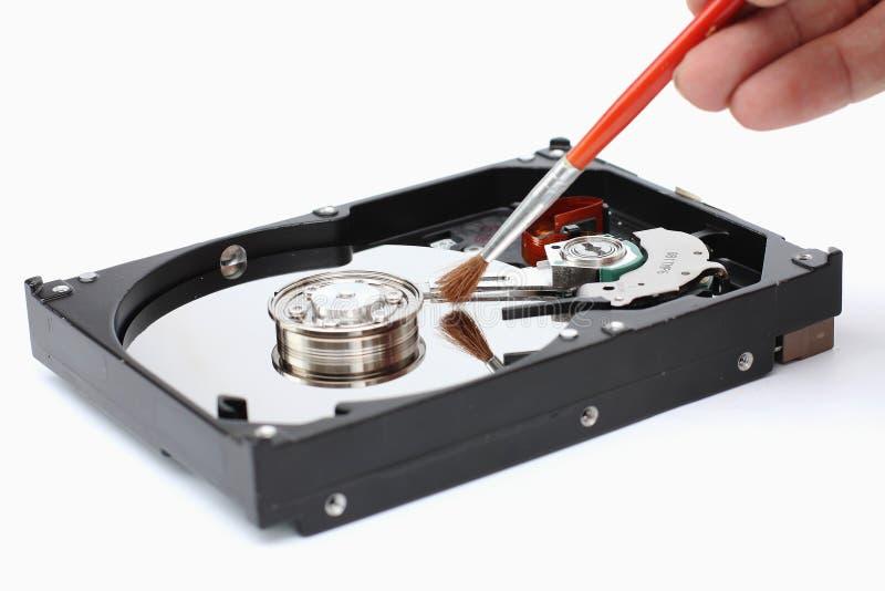 Harddisk cleaner. On a white background stock image