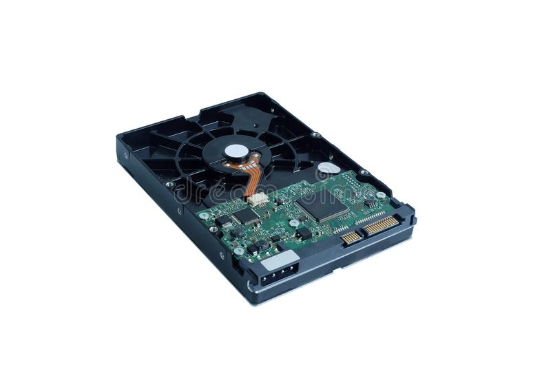 Harddisk SATA drive is the data storage for the digital data computer PC stock photo