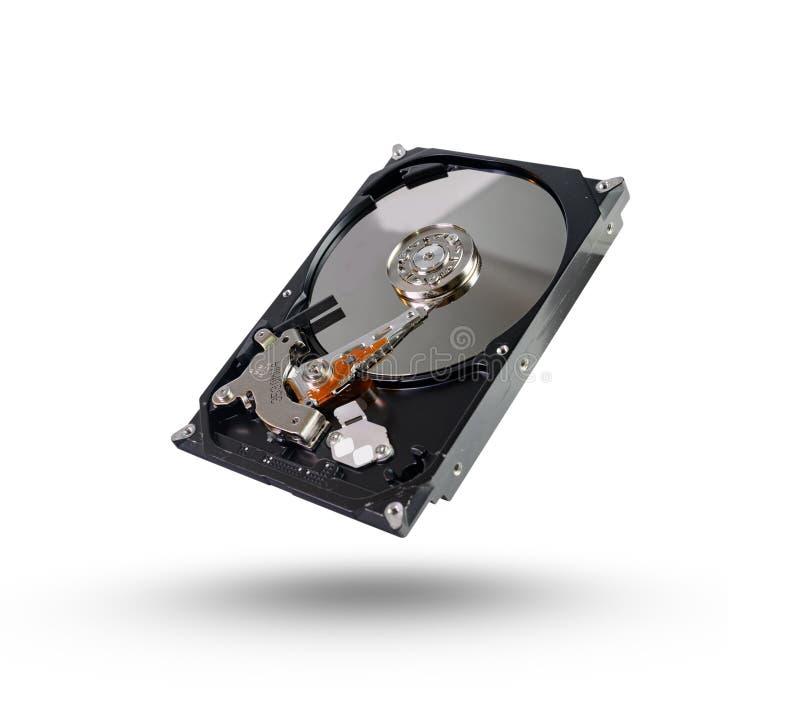 Harde diskÂ, HDD, aandrijving met sata 6 GB die op witte achtergrond met het knippen van weg wordt geïsoleerd royalty-vrije stock fotografie