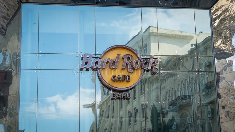 Harde Rotskoffie in Baku, gevestigd Baku Azerbaijan van de binnenstad stock foto