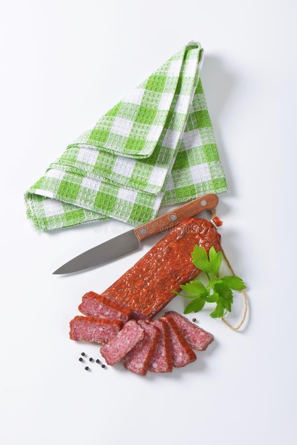 Harde Salami stock foto