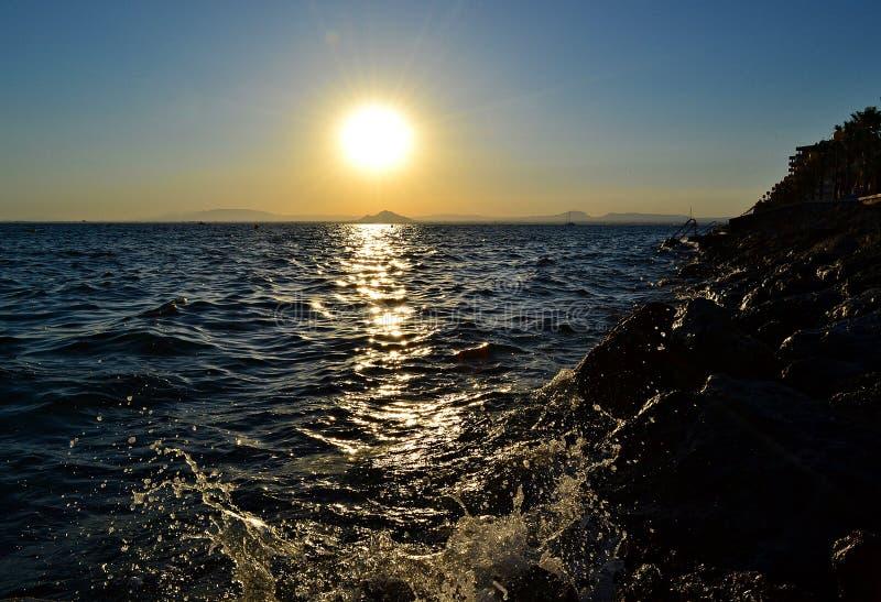 Harde zonsondergang stock foto