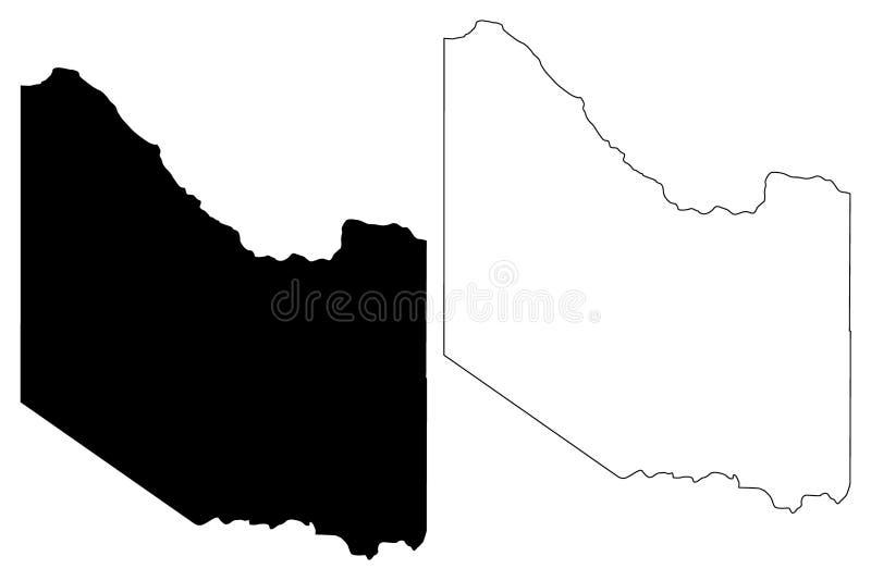 Hardeman okręg administracyjny, Teksas okręgi administracyjni w Teksas, Stany Zjednoczone Ameryka, usa, U S , USA mapy wektorowa  ilustracja wektor