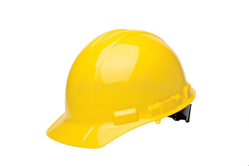 HardHat. Yellow hardhat isolated on a white background stock image