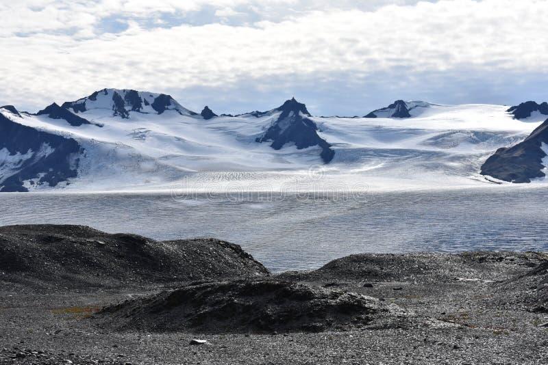 Harding isfält i Seward, Alaska royaltyfri fotografi