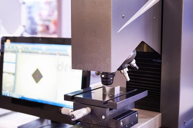 Hardness tester with monitor. Universal hardness tester with monitor stock photos