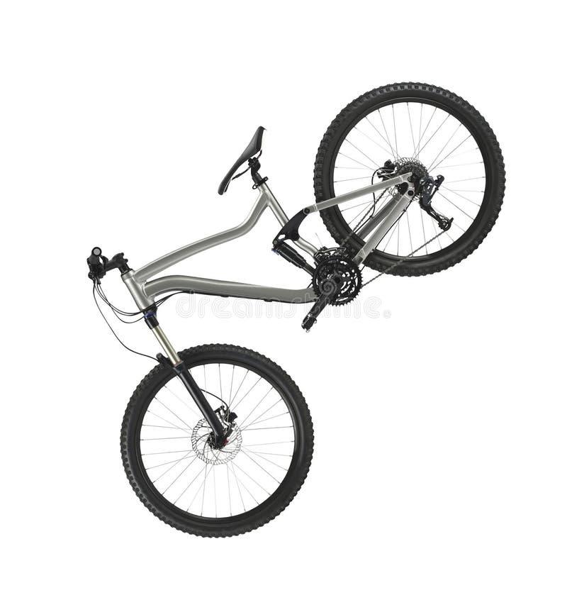 Hardtail-Mountainbike lokalisiert auf Weiß stockfotos