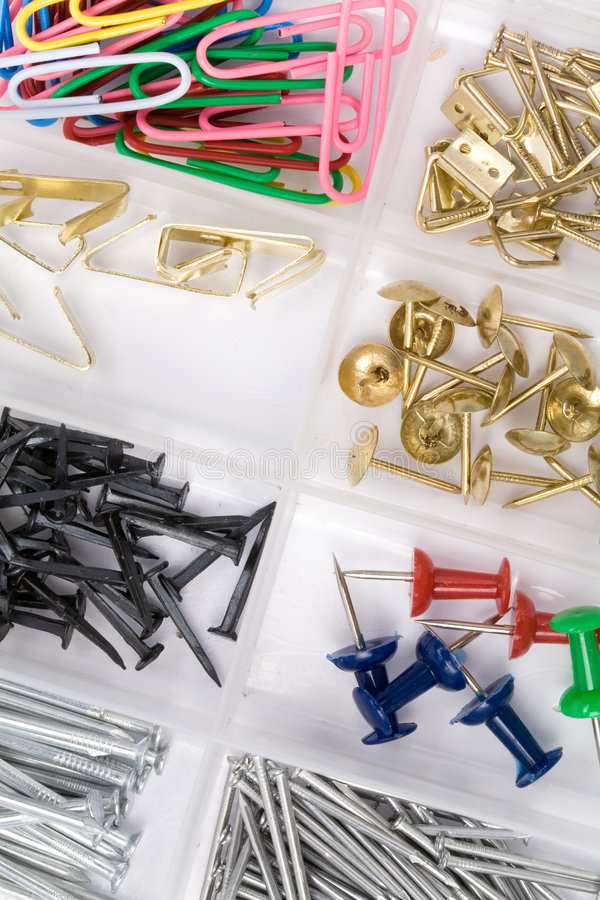 Free Hardware Box And Nails Stock Image - 4899081