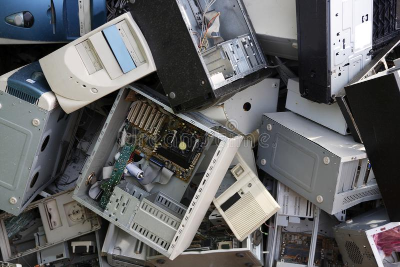 Hardware computer desktop recycle industry royalty free stock photos