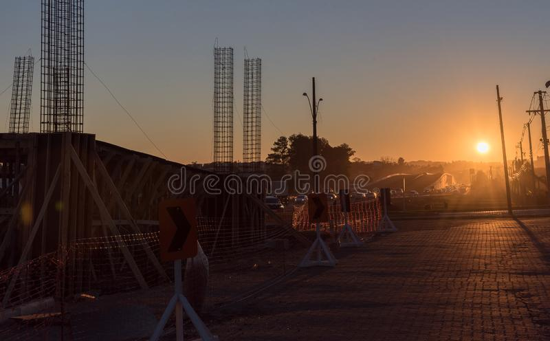 The hardware of a construction work in progress. stock images