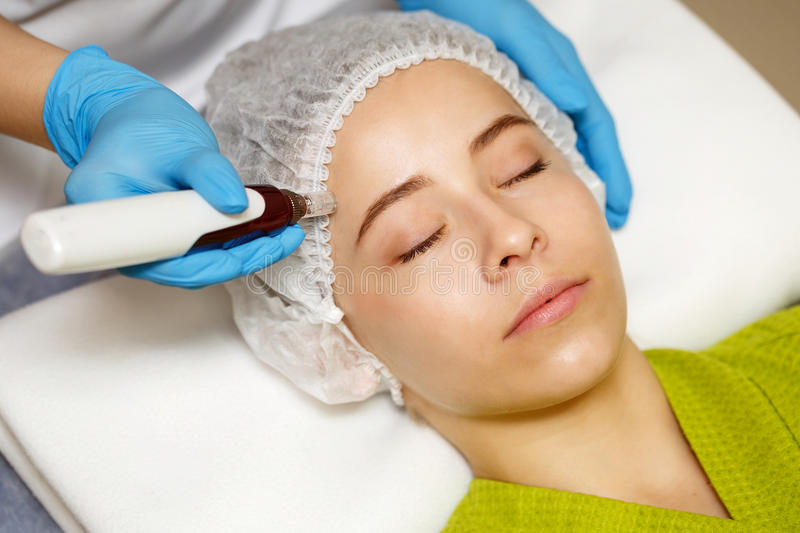 Hardware cosmetology. Mesotherapy stock photography