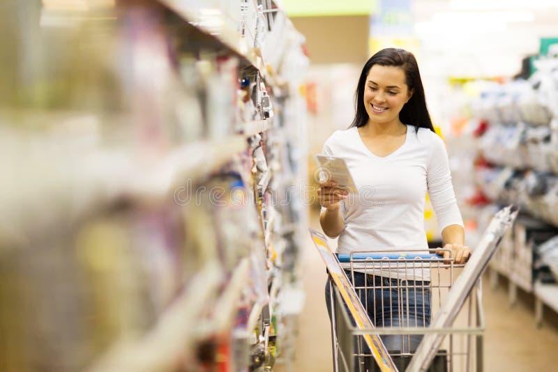 Hardware de las compras del cliente imagen de archivo