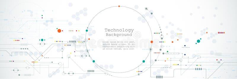 Hardware del ejemplo, dise?o de sistemas del circuito integrado Futurista de alta tecnología del extracto, concepto de la tecnolo stock de ilustración