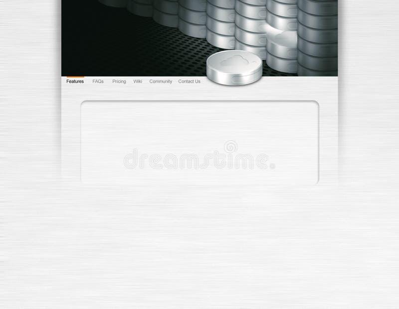 Hardware do disco do servidor de rede do conceito da página da aterrissagem do Web site foto de stock
