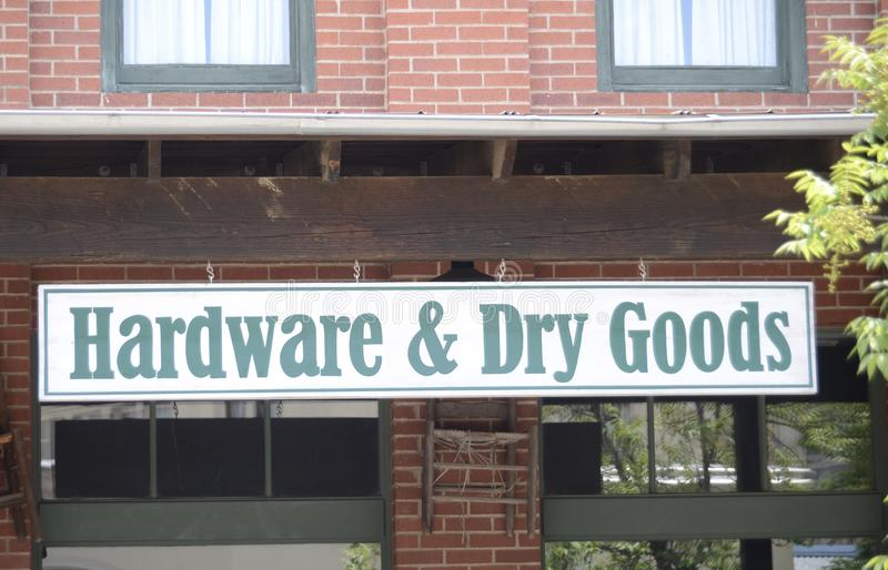 Hardware and Dry Goods Store royalty free stock image