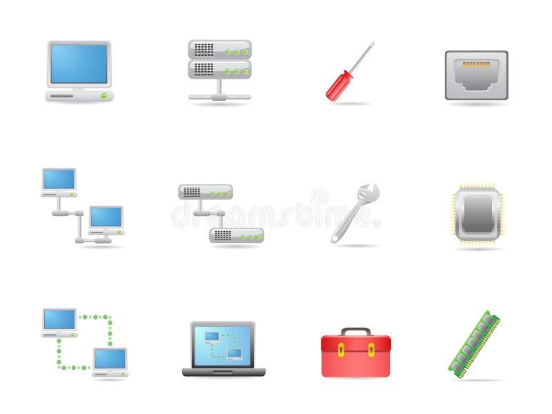 Hardware en aanslutingen pictogram royalty-vrije illustratie