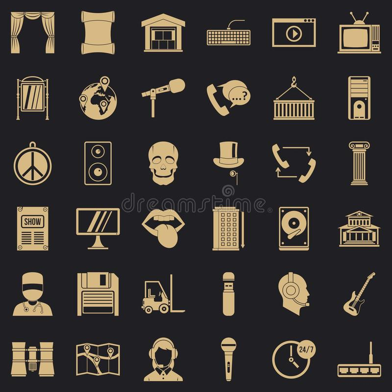 Hardware equipment icons set, simple style. Hardware equipment icons set. Simple set of 36 hardware equipment vector icons for web for any design royalty free illustration