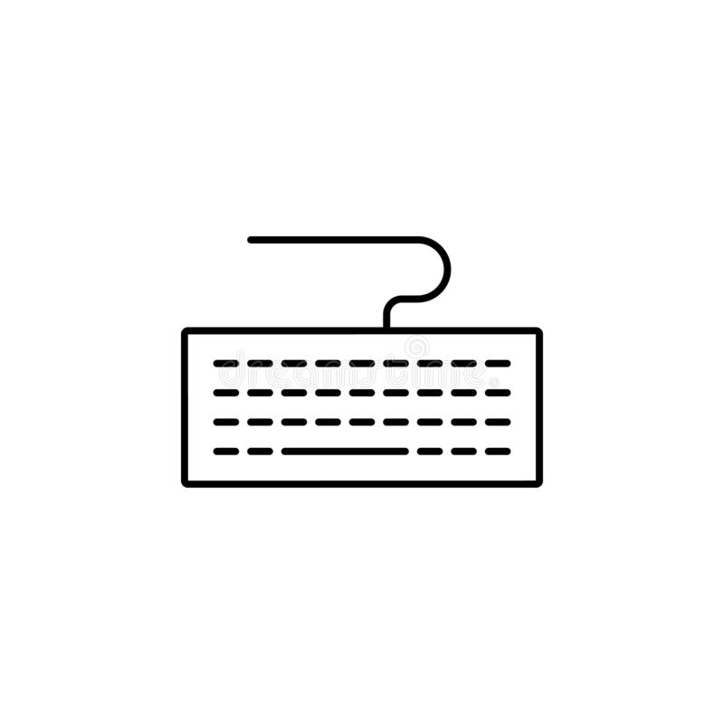 hardware, keyboard icon. Simple thin line, outline vector of hardware icons for UI and UX, website or mobile application royalty free illustration