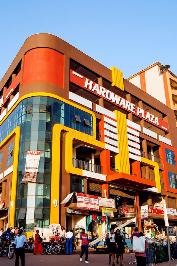 Hardware-Piazzagebäude, Kampala, Uganda lizenzfreies stockfoto