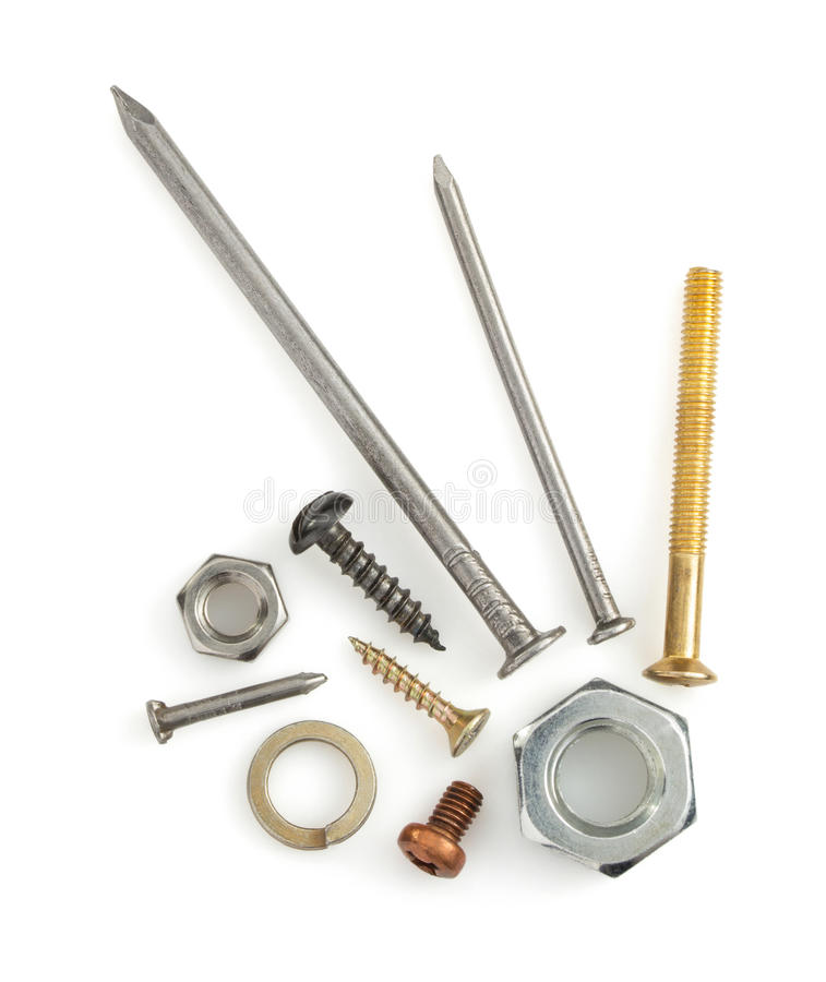 Hardware tools on white royalty free stock photography