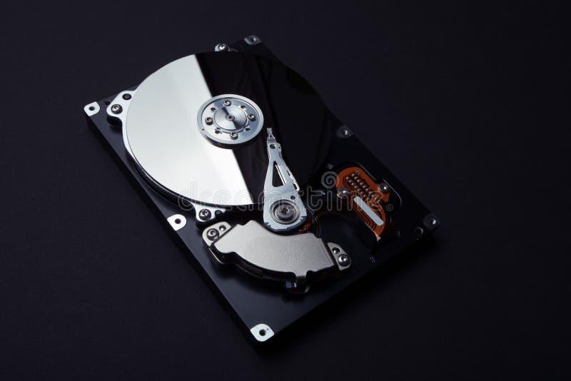 Hardware van het harde schijf de interne mechanisme Cybertoezicht en identiteitsdiefstal van gebruikers stock afbeeldingen