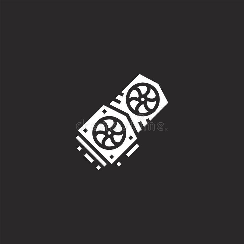 Hardwarepictogram Gevuld hardwarepictogram voor websiteontwerp en mobiel, app ontwikkeling hardwarepictogram van gevuld digitaal  vector illustratie