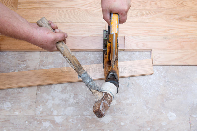Download Hardwood Floor Installation Stock Image - Image: 27492049