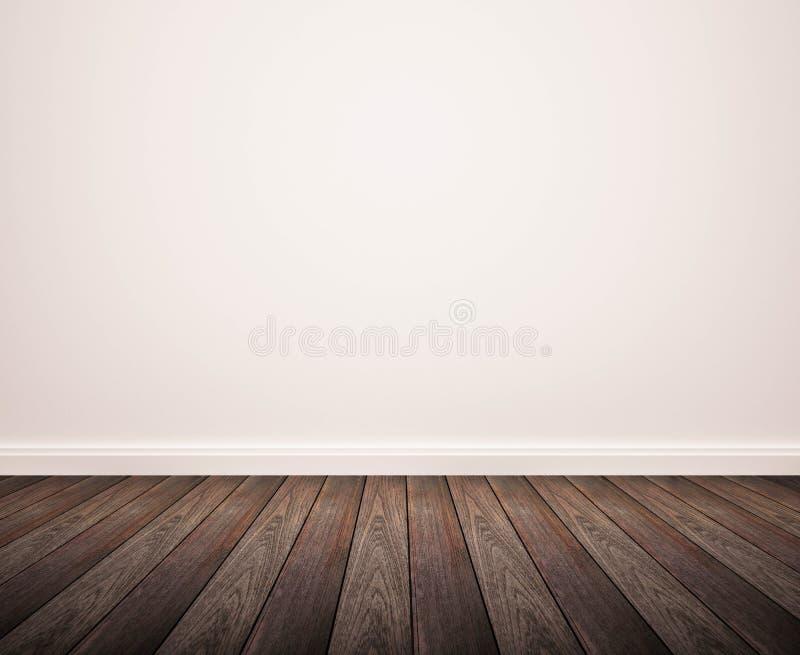 Hardwood floor with white wall. Hardwood panel floor with white wall stock images